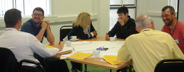 Change management group at work - Appreciating People, UK experts 0151 427 1146