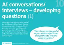 appreciative inquiry training cards, AI Essentials, Appreciating People, UK