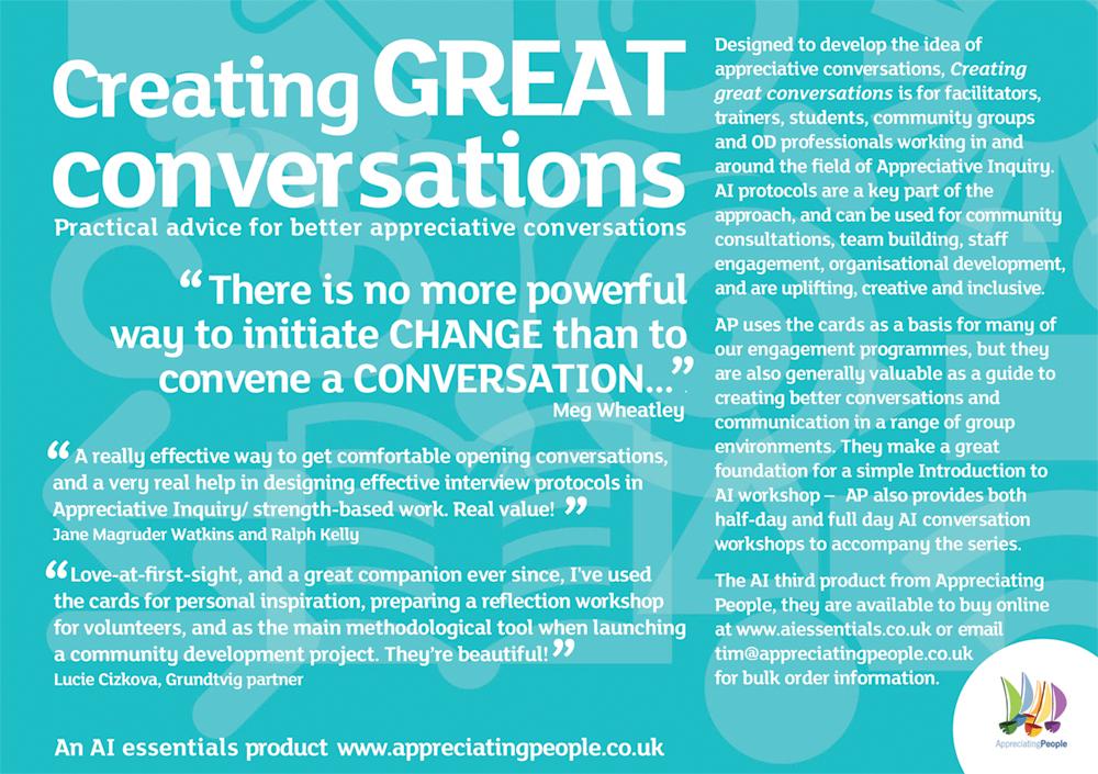 appreciative inquiry - Appreciating People, UK experts in organisational development