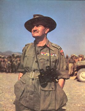 Lt.Gen. William Slim, Cdr XIVth Army, at Fort Dufferin, Mandalay,  March, 1945